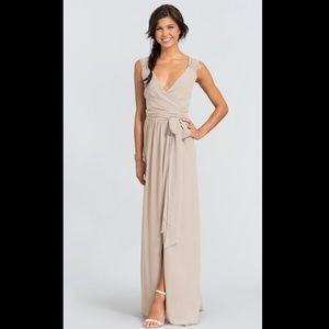 Ceremony by Joanna August Long Wrap Dress XS